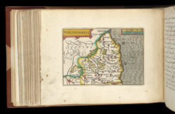 Map of Northumbria, from Atlas of the British Isles, Pieter Van Den Keere